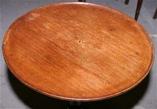 Mahogany Victorian tripod table with rimmed round