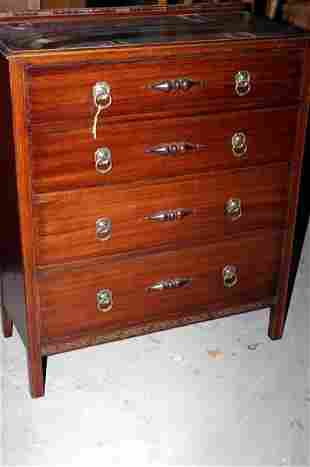 """1930s oak four drawer chest of drawers, 43x36x17"""""""