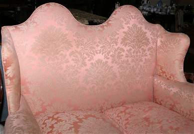 2069: Georgian style hump back sofa with carved front s