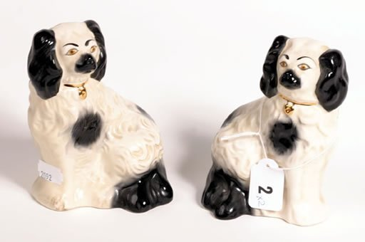 1002: Pair of Beswick old Staffordshire dogs, model 6,