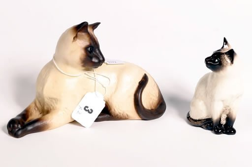 1003: Two Beswick Siamese cats, model 1558AB plus model