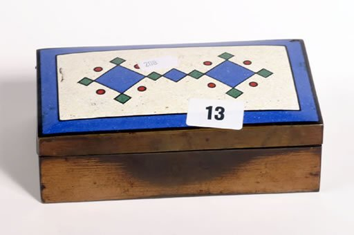 1013: Three old decorative enamelled cigarette boxes