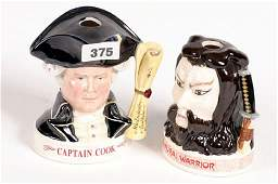 1375 Two Royal Doulton liquor jugs Captain Cook and