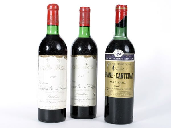 1024: Three bottles Chateau Brane Cantenac Margaux 1967