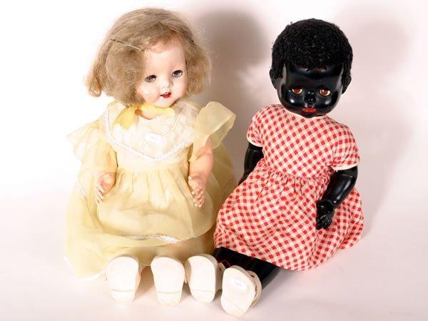 1025: 1950s Pedigree Negro 'walkie talkie' doll plus an