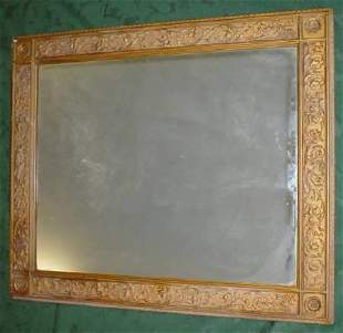 rectangular moulded frame wall mirror together w