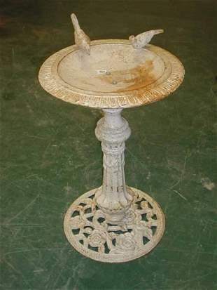 Contemporary cast iron bird bath