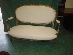 Louis XV style two seater oval back canapé