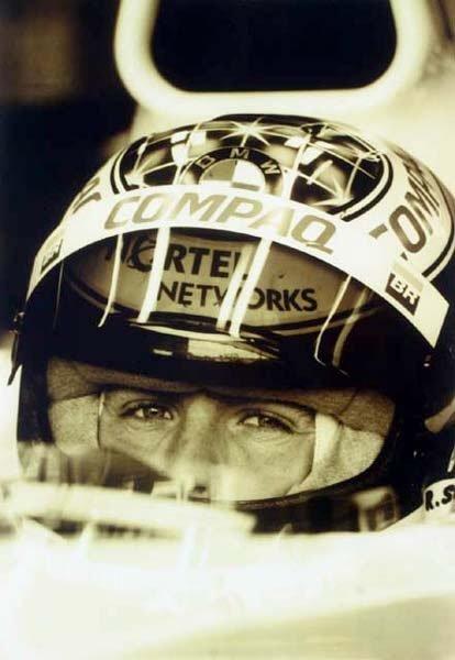2003: Ralf Schumacher A4 sepia photograph unframed