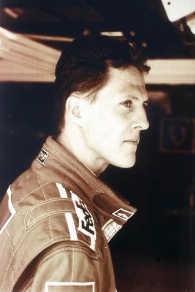 2005: Michael Schumacher Ferrari A4 unframed sepia phot
