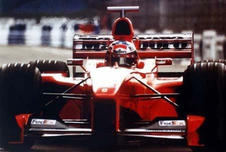 2007: Michael Schumacher Ferrari A4 unframed colour pho