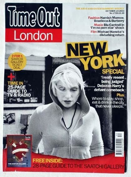 2018: Deborah Harry Time Out cover and feature October