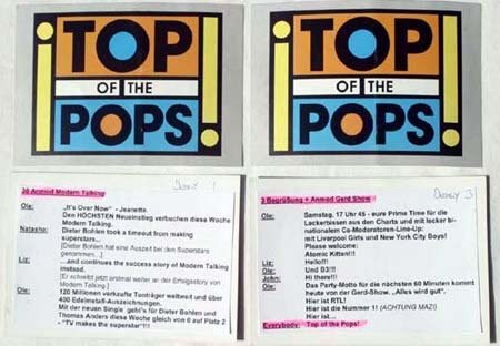 2023: Top Of The Pops x 4 presenters cards two used by