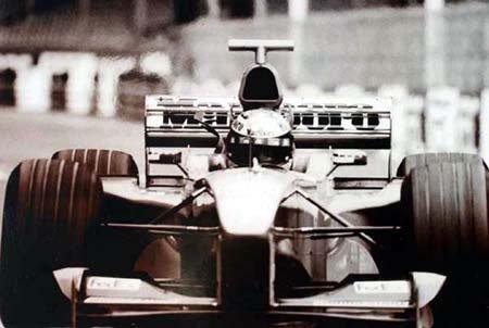 2024: Michael Schumacher black and white photo 27x18.5c