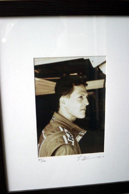 2073: Michael Schumacher Ferrari portrait sepia photogr