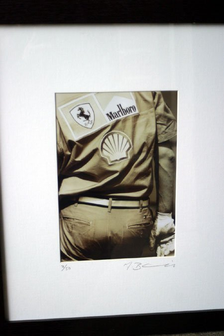 2075: Ferrari mechanic sepia photograph limited edition