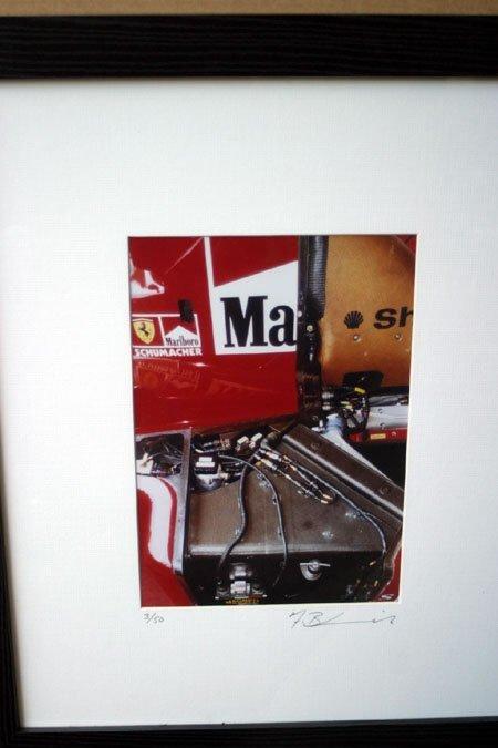 2076: Schumacher Ferrari engine section colour photo li