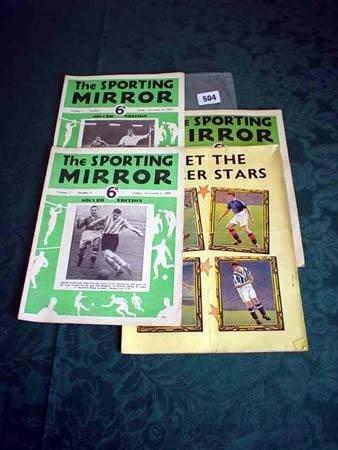 3504: Three copies 'Sporting Mirror' volumes 7, 8, 9 an