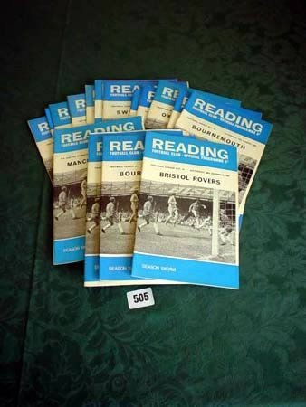 3505: Eighteen Reading home programmes from 1967-68 som