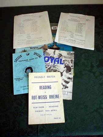 3509: Reading pre-season match sheet 1980 v West Bromwi