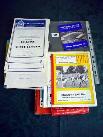 3511: Nine various football programmes and collection o