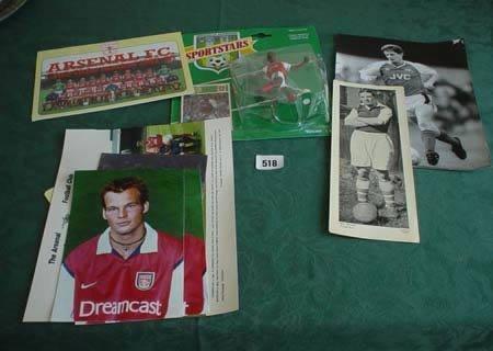 3518: Quantity of Arsenal memorabilia to include postca