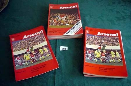 3519: Approx. ninety nine Arsenal home programmes from