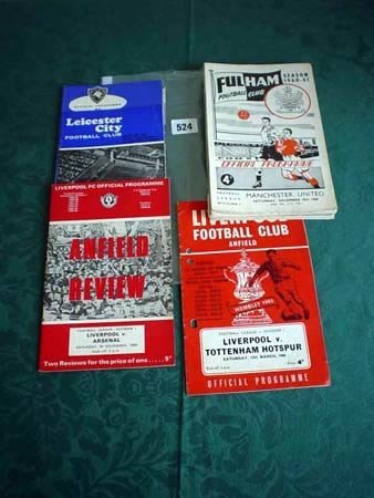 3524: Fifteen Fulham programmes from 1950s and '60s, fi