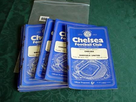 3658: Eighteen Chelsea programmes from 1954-55 plus six
