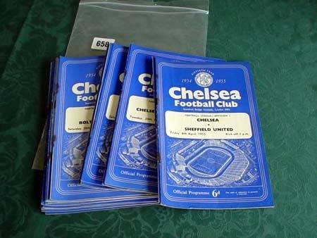 3658: Eighteen Chelsea programmes from 1954-55 plus six