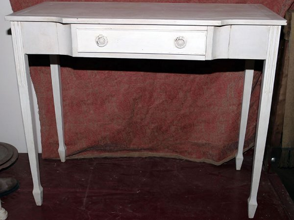 5002: 20c Regency style painted side table with breakfr