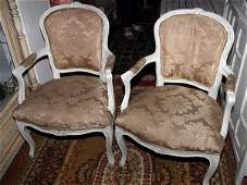5046 Pair of early 20c Louis XV French provincial pain