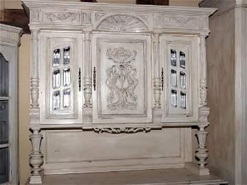 5083: c1900 ornate Napoleon III Buffet De Corp profuse