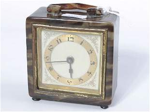 Small toitorshell cased bedside clock, not in wor