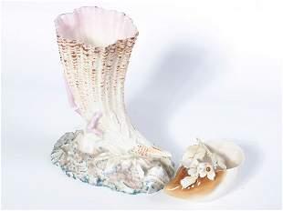 Fine porcelain Horn of Plenty, in the manner of B