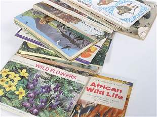 Approx. thirteen tea card albums with contents