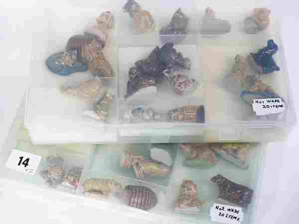 Collection of Wade Whimsies, animals and birds (a