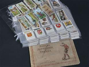 Collection of cigarette cards relating to sport,