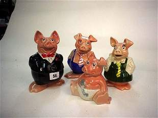 Collection of four Nat West Wade pigs