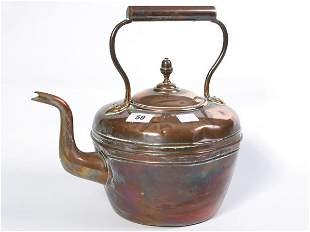 Old Victorian copper kettle