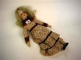 Contemporary bisque headed dressed doll