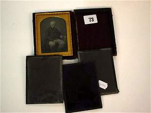 Late 19c cased photograph in gilt frame plus thre