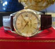 Mens Vintage Rolex Datejust Watch