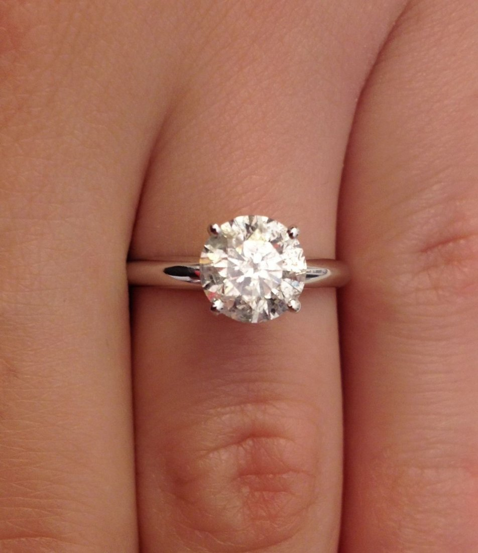 1 ctw diamond solitaire diamond ring