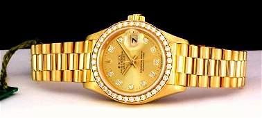 Women\'s Rolex President 18K Yellow Gold & Diamond