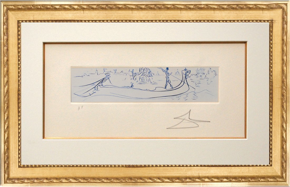 Visions of Venice (Blue) Etching by Salvador Dali