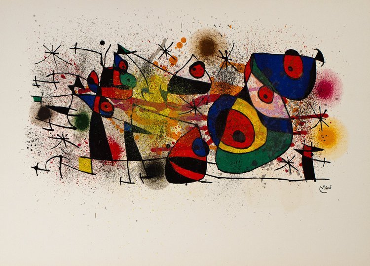 "Vintage Lithograph ""Ceramiques"" by Joan Miro"