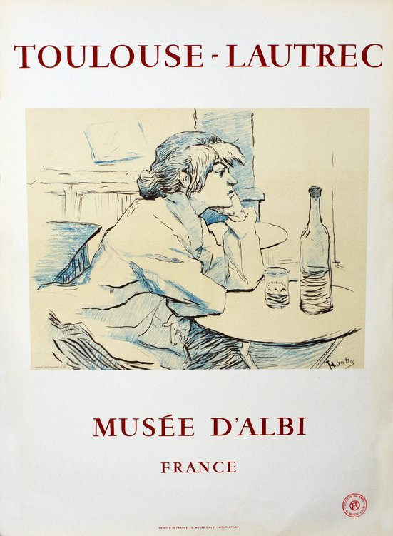 Toulouse Lautrec Musee D'Albi Poster 1967