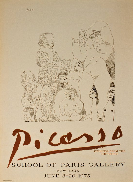"Picasso ""School of Paris Gallery"" Poster 1975"