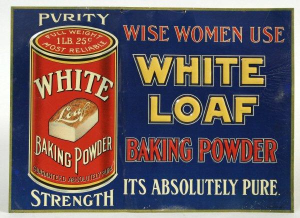 2010: Purity White Baking Powder Advertising Sign